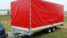 Geschlossener Plananhänger - Hochlader  3500 kg gebremst / 100 km/h - Innenmaße 5030 x 2060 x 2400 - Nutzlast ca. 2600 kg