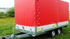 Geschlossener Plananhaenger Hochlader - 2500 kg gebremst / 100 km/h - Ladeflaeche: 4010 x 1840 x 1800 - Nutzlast  ca. 1850 kg