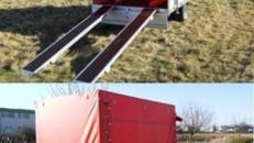 Geschlossener Plananhaenger Hochlader - 1500 kg gebremst / 100 km/h - Ladeflaeche: 3010 x 1840 x 1800 - Nutzlast  ca. 1100 kg