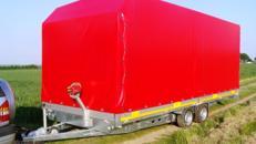 Geschlossener PKW Transporter  2700 kg gebremst - Ladeflaeche 6100 x 2200 x 2200 - Nutzlast ca. 2075 kg