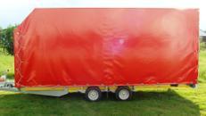 Geschlossener Autotransporter, PKW Transportanhänger 2700 kg - 5060 x 2200 x 2000 Mietanhänger, Anhänger mieten, Anhängervermietung