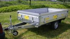 Gartenanhaenger Hochlader  1300 kg gebremst - Ladeflaeche: 2510 x 1530 x 345 - Nutzlast ca. 1000 kg