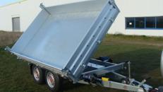 Dreiseitenkipper mit E-Pumpe -  Hochlader 3.500 kg gebremst 100 km/h