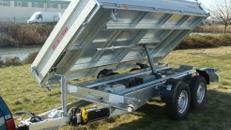 Dreiseitenkipper Hochlader 3.000 kg gebremst - E - Pumpe / 100 km/h - 3600 x 1760 x 400 mm