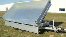 Dreiseitenkipper 3000 kg - 3600 x 1760 x 400 mm, Hochlader mit E-Pumpe + Pendelklappe