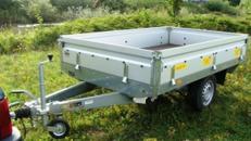Bau und Geraeteanhaenger offen  Hochlader - 1300 kg gebremst / einachser -Ladeflaeche: 2510 x 1280 x 345 - Nutzlast ca. 1000 kg