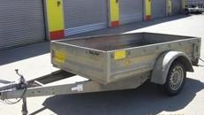 Bau und Geraeteanhaenger 1200 kg gebremst - Ladeflaeche: 2500 x 1500 x 380 - Nutzlast ca. 880 kg