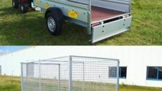 Bau- + Gartenanhaenger Tieflader / einachser 1300 kg gebremst - 100 km/h - Ladeflaeche: 2510 x 1280 x 1345 - Nutzlast ca. 1000 kg