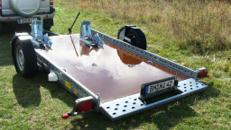 Absenkbarerer 2er Motorradanhänger 1500 kg gebremst / mit Stoßdämpfern 100 km/h - 3010 x 1690