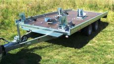 5er Motorradanhänger extra breit - 4010 x 2030 - 2700 kg - 100 km/h - niedrige Ladehöhe
