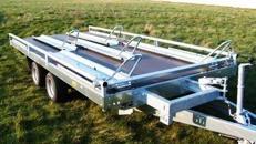 5er Motorradanhänger 2500 kg gebremst / 100 km/h - Ladeflaeche geschl.: 4010 x 1880 - Nutzlast ca. 1.800 kg