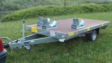 3er Motorradanhaenger 1500 kg gebremst / 100 km/h - Ladeflaeche: 3010 x 1840 - Nutzlast ca. 1.000 kg