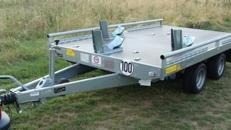 3er Motorrad - Transporter doppelachser 2000 kg gebremst / 100 km/h - Ladeflaeche geschl.: 3010 x 1840 - Nutzlast ca. 1.400 kg