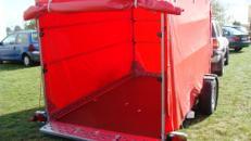 2er Motorradanhänger absenkbar geschlossen 1500 kg gebremst / 100 km/h - Ladefläche L x B mm 3010 x 1690 - Nutzlast ca. 1000 kg