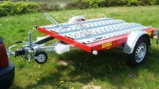 2er Motorrad - Transporter 850 kg gebremst / mit Stossdaempfern 100 km/h - Nutzfläche ca. L x B mm 2200 x 1500 - Nutzlast ca. 680 kg