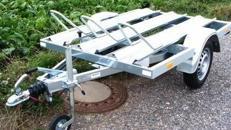 2er Motorrad - Transporter 850 kg gebremst / mit Stossdaempfern 100 km/h - Ladeflaeche ca. L x B mm 2100 x 1520 - Nutzlast ca. 680 kg