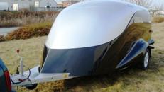 2er Biketrailer geschlossen Excalibur Anhaenger S 2 / 1500 kg gebremst / 100 km/h - 3000 x 1800 x 1520 - Nutzlast ca.  900 kg