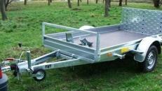 1er Motorrad - Transporter kippbar mit Rampe 1000 kg gebremst / mit Stossdaempfer 100 km/h - Ladeflaeche L x B mm 2510 x 1350