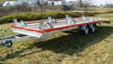 10er Motorradanhaenger 3500 kg gebremst / 100 km/h - Ladeflaeche geschl.: 8000 x 2000 - Nutzlast ca. 2.500 kg