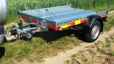 1 - 2er Motorrad - Transporter 850 kg gebremst / mit Stossdaempfer 100 km/h - Nutzflaeche ca. L x B mm 2200 x 1500