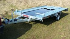 PKW Transporter kippbar - 1300 kg gebremst, einachser  / 100 km/h