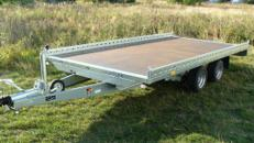Fahrzeugtransporter Plattform Hochlader 2700 kg gebremst / 100 km/h - 4010 x 2030 mm