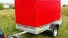 Helium Plananhänger Tieflader 1200 kg gebremst / 100 km/h