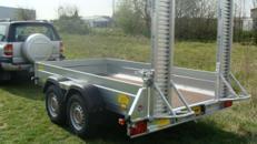 Pumpgun Baggertransporter Maschinentransporter Tieflader 3.500 kg gebremst / 100 km/h