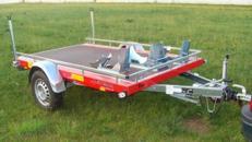 Piewi 1000 kg gebremst mit Stoßdämpfern 100 km/h Motorradanhänger Biketrailer Anhänger 2 Maschinen