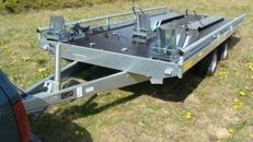 Baccardi 4er - 5er Motorradanhänger 2500 kg gebremst 100 km/h