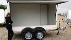 Catering Verkaufsanhänger (Leerwagen) 2000 kg doppelachser - 3010 x 1510 x 1800 - 100 km/h Verkaufswagen Trödelmarkt Flohmarkt