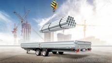 Shitstorm offener Alukasten Anhänger 6100 x 2140 x 350 Hochlader 3500 kg gebremst 100 km/h Bauanhänger, Geräteanhänger, Gartenanhänger, Maschinentransporter, Gerätetransporter