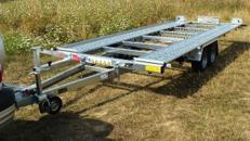 FILU PKW Transporter extra lang 4900 x 2010 mm Hochlader  2.700 kg gebremst 100 km/h Autotransporter kippbar