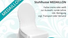Stuhlhusse weiß für Bankettstühle mit runder Lehne, inkl.  Reinigung, Stuhlhussen, Stuhlüberzug, Bankettstuhl