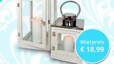 2x Laterne Windlicht für Hochzeit, Event, Messe, Veranstaltung, Incentive, Mitarbeiterfest, Firmenjubiläum