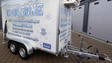 Tiefkühlanhänger bis -20 Grad, Frostanhänger, mobile Kühlung, Kühlzelle MIETEN