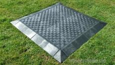 Zeltboden, Eventboden Fußboden, Tanzboden, Kunststoffboden schwarz rutschfest