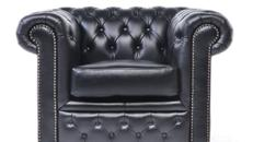 Chesterfield Lounge Sessel schwarz