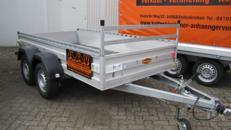 Offener Kastenahänger 3,00x1,55 m 2000 KG PKW Anhänger/Anhängerverleih/Anhängervermietung