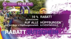 Hüpfburgen / Eventmodule Mieten - Mega Herbst Aktion