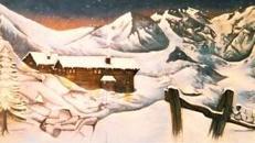 Winterlanschaft Kulisse - Winter, Weihnachten, Schnee, Winterdorf