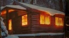 Alpenhütte Kulisse - Weihnachten, Alpen, Winter, Schnee