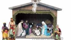 Weihnachtskrippe, Jesus, Weihnachten, Winter, Figuren