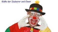 KlaRo der Clown mit Zauberei und Ballontiere  - Kinderzauberer - Zauberkünstler - Ballonmodellieren - Schminken