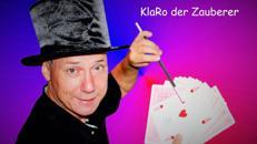 KlaRo der Zauberer für Erwachsene als Zauberkünstler  - auch als Gaukler