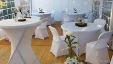 Partyzelt, Event Pavillon Zelte inkl. Zeltboden Tische Stühle Hussen >KOMPLETT ANGEBOT<