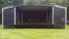 8x6m mobile Bühne, Rundbogenbühne, Eventbühne, Showbühne