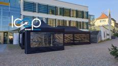 Falt-Pavillon PRO PLUS 4x8 m_schwarz  // Partyzelt //Zelt
