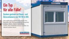 Raumcontainer, WC-Trailer, Miettoilette, mobile Toilette, Hygiene