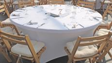 runder Tisch Banketttisch rund mit Durchmesser 183cm klappbar